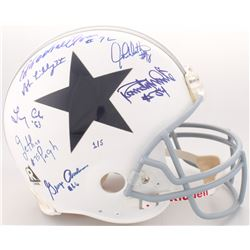 """LE Dallas Cowboys """"Doomsday Defense"""" Throwback Full-Size Authentic On-Field Helmet Team-Signed by (7"""