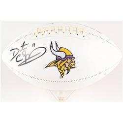 Daunte Culpepper Signed Vikings Logo Football (Beckett COA)