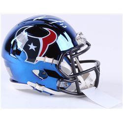 Will Fuller Signed Houston Texans Chrome Speed Mini-Helmet (JSA COA)