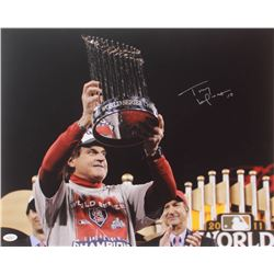 Tony La Russa Signed Cardinals 2011 World Series Champions 16x20 Photo (JSA COA)