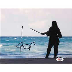 "Johnny Depp Signed ""Pirates of the Caribbean: On Stranger Tides"" 8x10 Photo (PSA COA)"