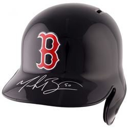 Mookie Betts Signed Red Sox Authentic Full-Size Batting Helmet (Fanatics Hologram)