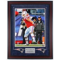 Rob Gronkowski Signed Patriots 23.5x30.25 Custom Framed Photo Display (JSA COA)