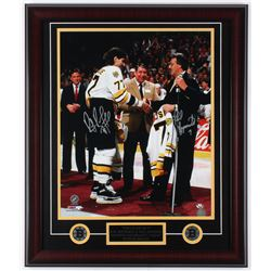 Ray Bourque  Phil Esposito Signed Bruins 23x27 Custom Framed Photo Display (JSA COA)