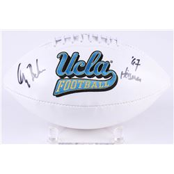 "Gary Beban Signed UCLA Logo Football Inscribed ""67 Heisman"" (Radtke COA)"