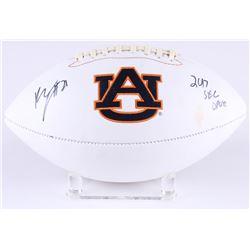 "Kerryon Johnson Signed Auburn Tigers Logo Football Inscribed ""2017 SEC OPOY"" (Radtke COA)"