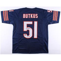 """Dick Butkus Signed Jersey Inscribed """"HOF 79"""" (Radtke COA)"""