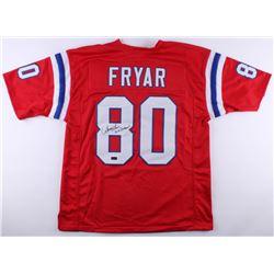 "Irving Fryar Signed Patriots Jersey Inscribed ""5x Pro Bowl"" (Radtke COA)"
