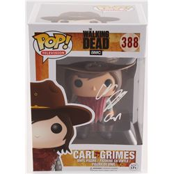 "Chandler Riggs Signed ""The Walking Dead"" Marvel POP! Vinyl Figure #388 Inscribed ""Carl"" (Radtke COA)"