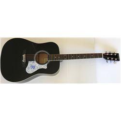 Travis Barker Signed Full-Size Acoustic Guitar (PSA COA)