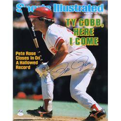 Pete Rose Signed Reds 16x20 Magazine Cover Photo (JSA COA  Sure Shot Promotions)