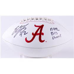 "Eddie Lacy Signed Alabama Crimson Tide Logo Football Inscribed ""11 + 12 BCS Champ"" (Radtke COA  GTSM"