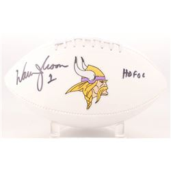 "Warren Moon Signed Vikings Logo Football Inscribed ""HOF 06"" (Radtke Hologram)"