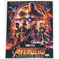"Chadwick Boseman, Chris Hemsworth  Sebastian Stan Signed ""Avengers: Infinity War"" 11x14 Photo (PSA L"
