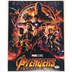 """Avengers: Infinity War"" 11x14 Photo Cast-Signed by (6) with Chris Hemsworth, Chadwick Boseman, Josh"