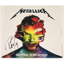 "Robert Trujillo Signed ""Hardwired... to Self-Destruct"" Vinyl Record Album Cover (PSA COA)"