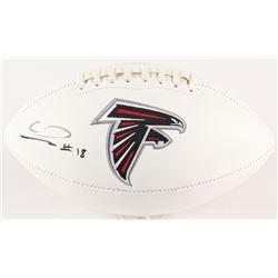 Calvin Ridley Signed Falcons Logo Football (Radtke COA  Ridley Hologram)