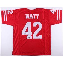T. J. Watt Signed Jersey (Watt Hologram  Radtke COA)