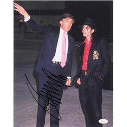 Donald Trump Signed 11x14 Photo with Michael Jackson (JSA LOA)
