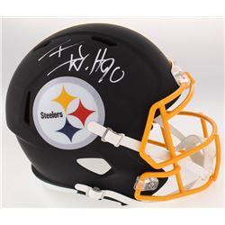 T.J. Watt Signed Steelers Full-Size Custom Matte Speed Helmet (JSA COA  Watt Hologram)