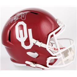 Adrian Peterson Signed Oklahoma Sooners Full-Size Speed Helmet (Beckett COA)