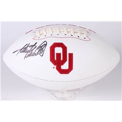 Adrian Peterson Signed Oklahoma Sooners Logo Football (Beckett COA)
