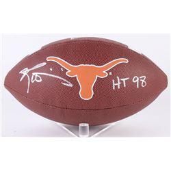 """Ricky Williamsn Signed Texas Longhorns Logo Football Inscribed """"HT 98"""" (JSA COA)"""