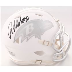 Anquan Boldin Signed Ravens White ICE Speed Mini Helmet (JSA COA)