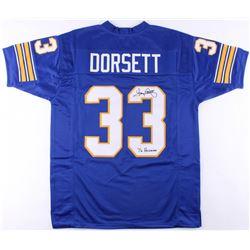 "Tony Dorsett Signed Jersey Inscribed ""76 Heisman"" (JSA COA)"