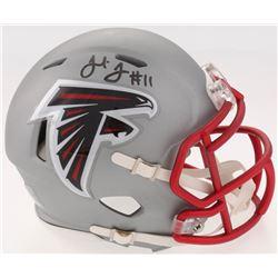 Julio Jones Signed Falcons Blaze Speed Mini Helmet (JSA COA)