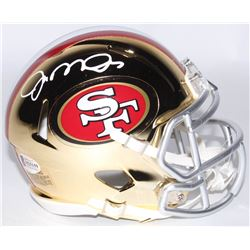 Joe Montana Signed 49ers Riddell Chrome Speed Mini Helmet (Beckett COA)