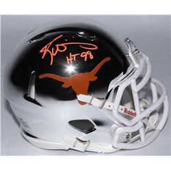 "Ricky Williams Signed Texas Longhorns Chrome Speed Mini Helmet Inscribed ""HT 98"" (JSA COA)"