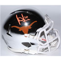 Vince Young Signed Texas Longhorns Chrome Speed Mini Helmet (JSA COA)