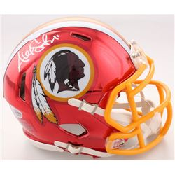 Alex Smith Signed Redskins Chrome Speed Mini Helmet (Beckett COA)