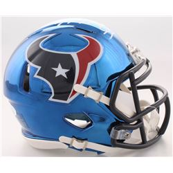 J.J. Watt Signed Texans Chrome Speed Mini-Helmet (JSA COA  Watt Hologram)