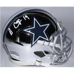 Amari Cooper Signed Dallas Cowboys Chrome Speed Mini Speed Helmet (JSA COA)