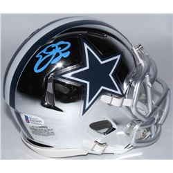 Emmitt Smith Signed Cowboys Chrome Speed Mini-Helmet (Beckett COA  Prova Hologram)