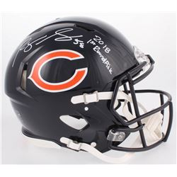 "Roquan Smith Signed Bears Full-Size Authentic On-Field Speed Helmet Inscribed ""2018 1st Round Pick"""