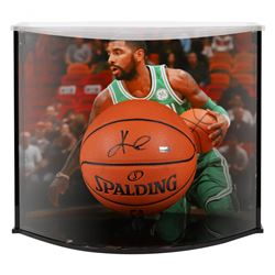 Kyrie Irving Signed Celtics NBA Basketball With Curve Display Case (Panini COA)