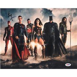"Ben Affleck  Ezra Miller Signed ""Justice League"" 11x14 Photo (PSA COA)"