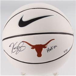 "Kevin Durant Signed LE Texas Longhorns Logo Basketball Inscribed ""Hook Em"" (Panini COA)"