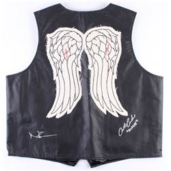 "Norman Reedus  Austin Amelio Signed ""The Walking Dead"" Vest Inscribed ""Dwight"" (Radtke COA)"