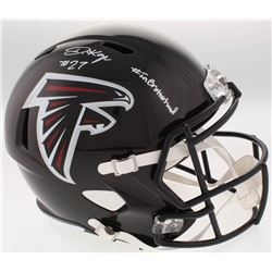 "Damontae Kazee Signed Atlanta Falcons Full-Size Speed Helmet Inscribed ""#InBrotherhood"" (Radtke COA)"