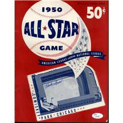 Hank Sauer Signed 1950 All-Star Game Scorebook (JSA COA)