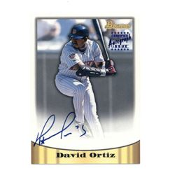 1998 Bowman Certified Blue Autographs #4 David Ortiz