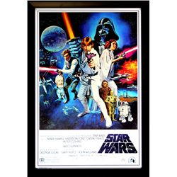 "Harrison Ford Signed ""Star Wars: A New Hope"" 28x40 Custom Framed Poster (Radtke COA)"