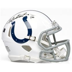 """Andrew Luck Signed LE Indianapolis Colts Mini Helmet Inscribed """"COLTSNATION"""" (Panini COA)"""