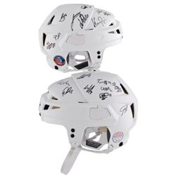 Washington Capitals LE CCM Game Model Helmet Team-Signed By (24) With Alex Ovechkin, TJ Oshie, Nickl