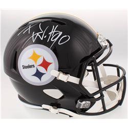 T.J. Watt Signed Pittsburgh Steelers Full-Size Speed Helmet (JSA COA  Watt Hologram)