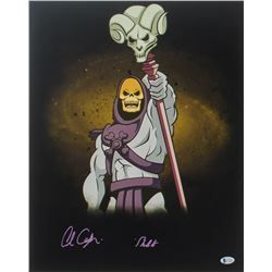 """Alan Oppenheimer Signed """"He-Man and the Masters of the Universe"""" 16x20 Photo Inscribed """"Skeletor"""" (B"""